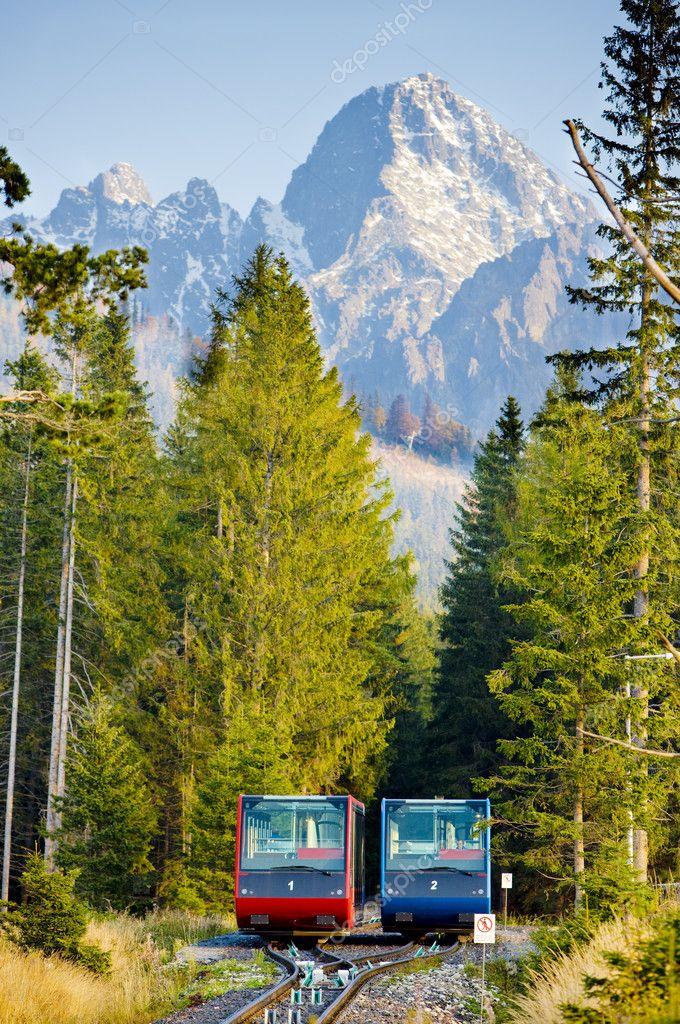Cableway to Hrebienok, Vysoke Tatry (High Tatras), Slovakia