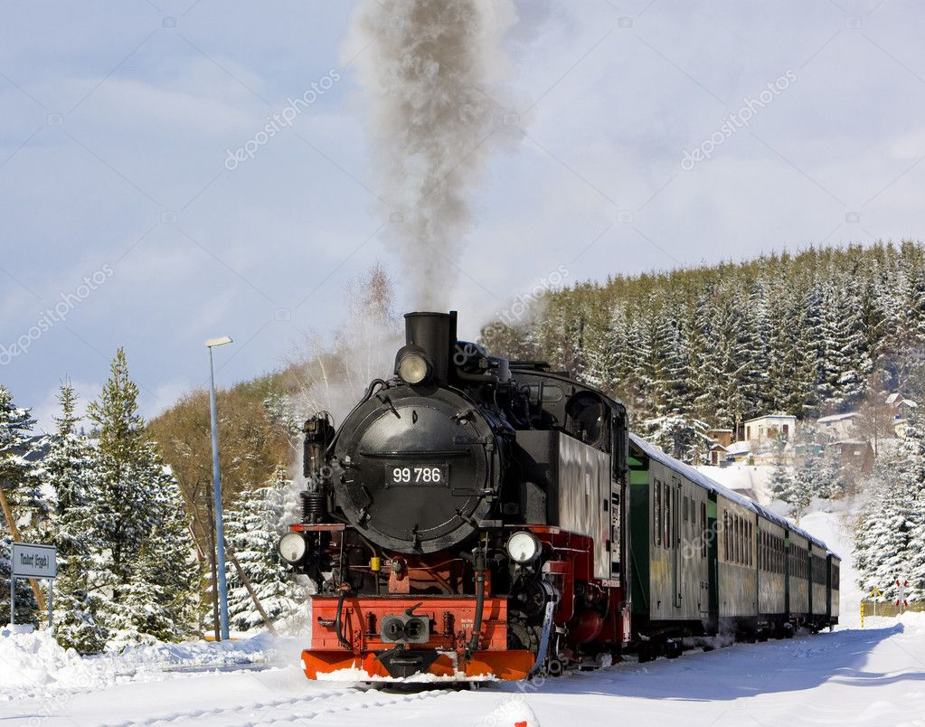 Steam train, Germany