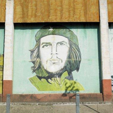 Political mural painting (Che Guevara), Ceiba Hueca, Granma Prov