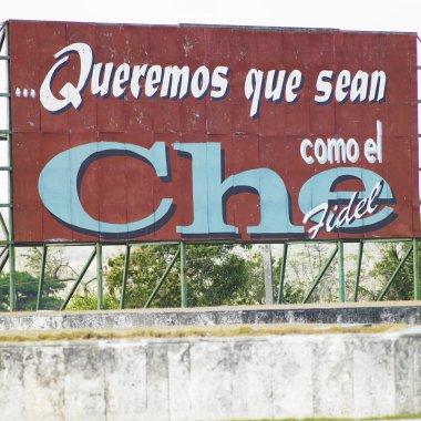 Political billboard (Che Guevara), Santa Clara, Cuba