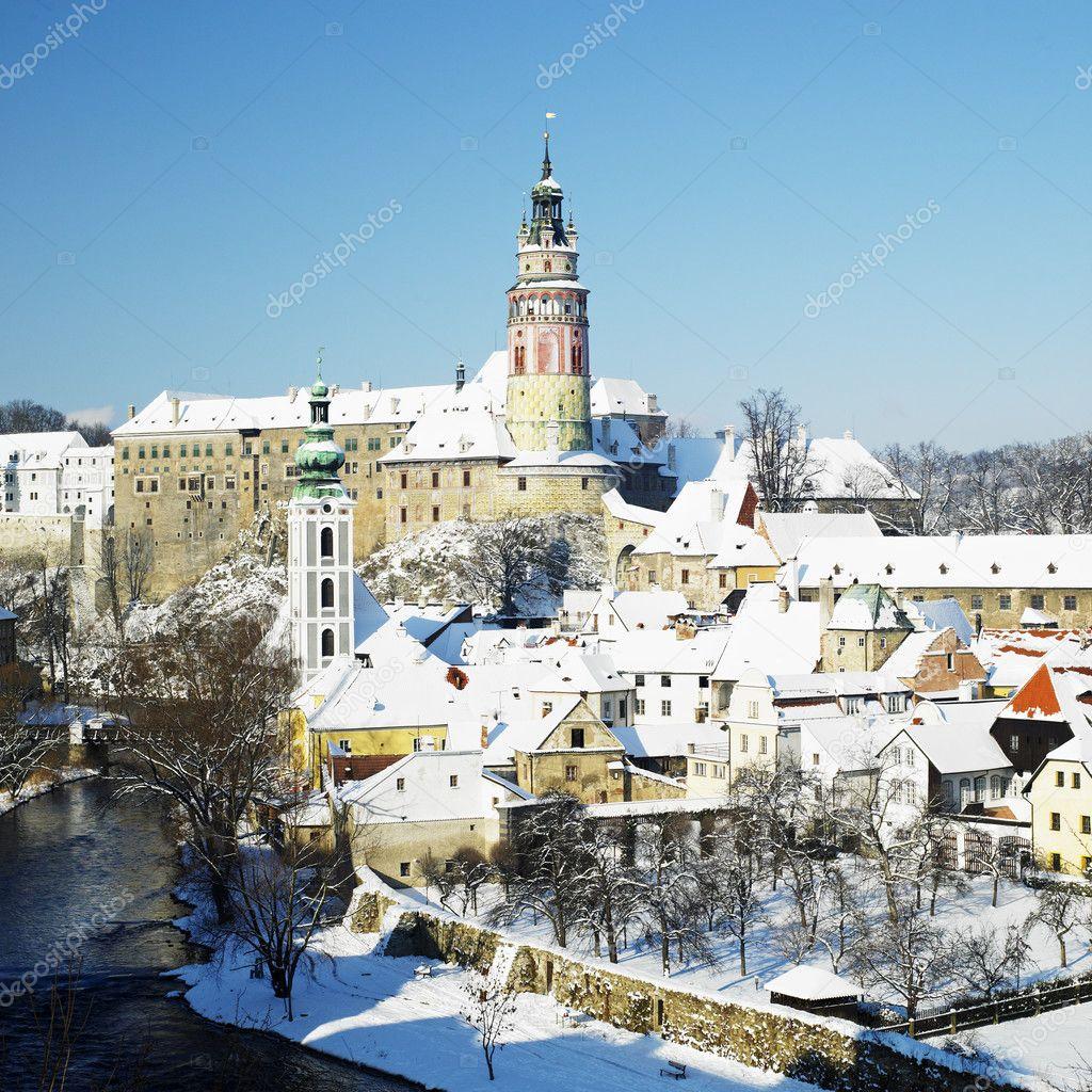 Cesky Krumlov in winter, Czech Republic