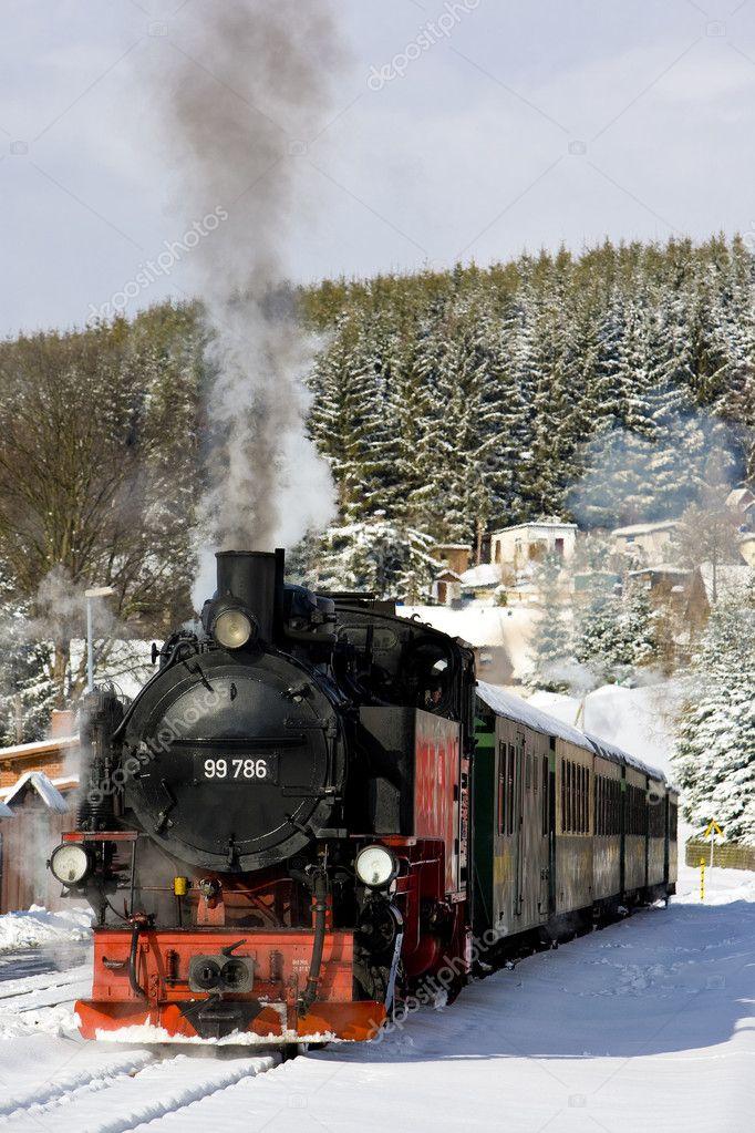 Steam train, Oberwiesenthal - Cranzhal (Fichtelbergbahn), German