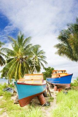 Fishing boats, Six Men''s Bay, Barbados