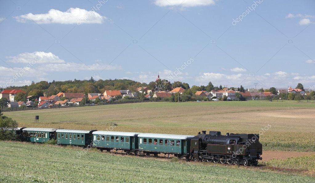 Steam train (464.102), Knezeves - Kolesovice, Czech Republic