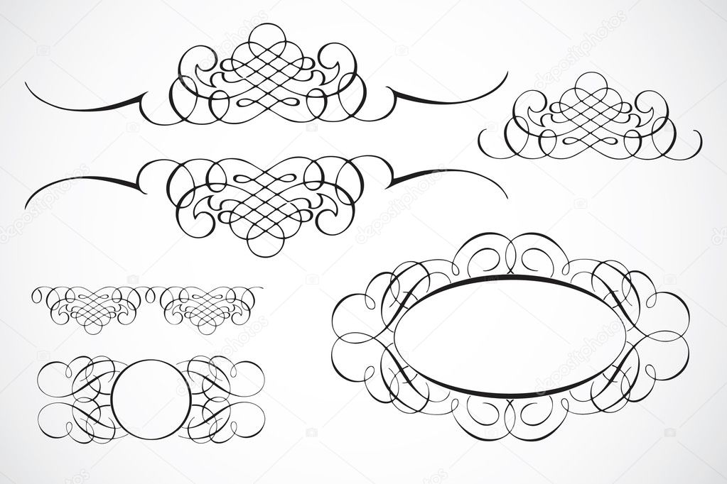 Decorative Frame Ornaments — Stock Photo © createfirst #3458945