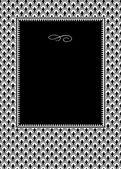 Vzorec řádku a černý rám