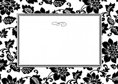 White Floral Pattern and Frame