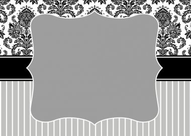 Damask Stripe Frame