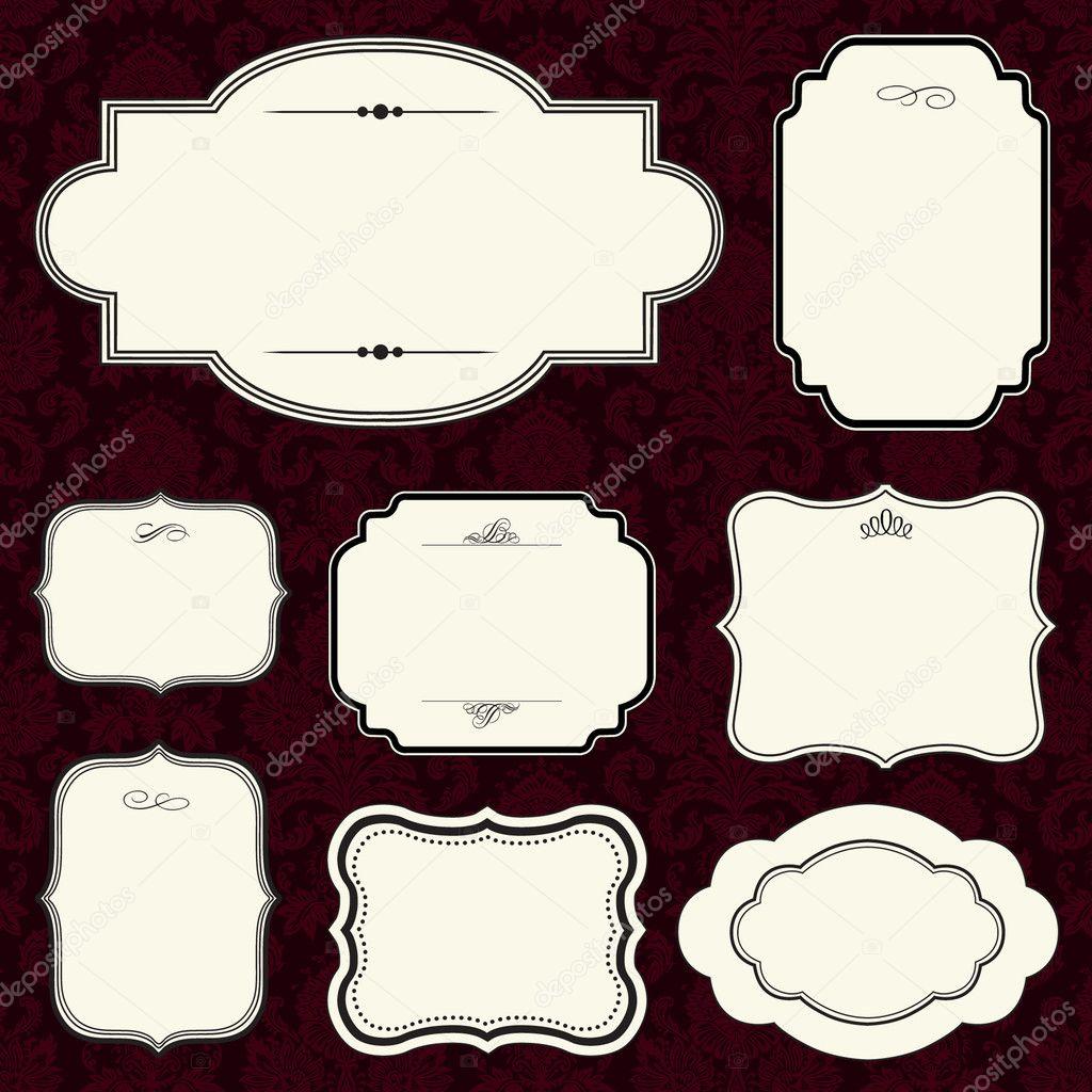 Conjunto de marco de burgandy — Fotos de Stock © createfirst #3498665