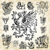 Detailed mythical animals