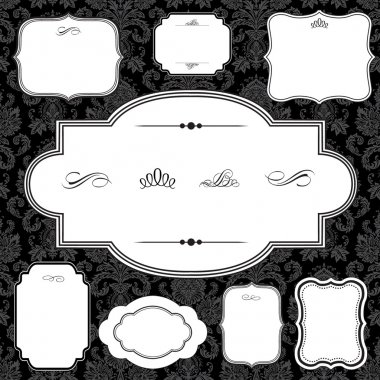 Damask Pattern and Frame Set