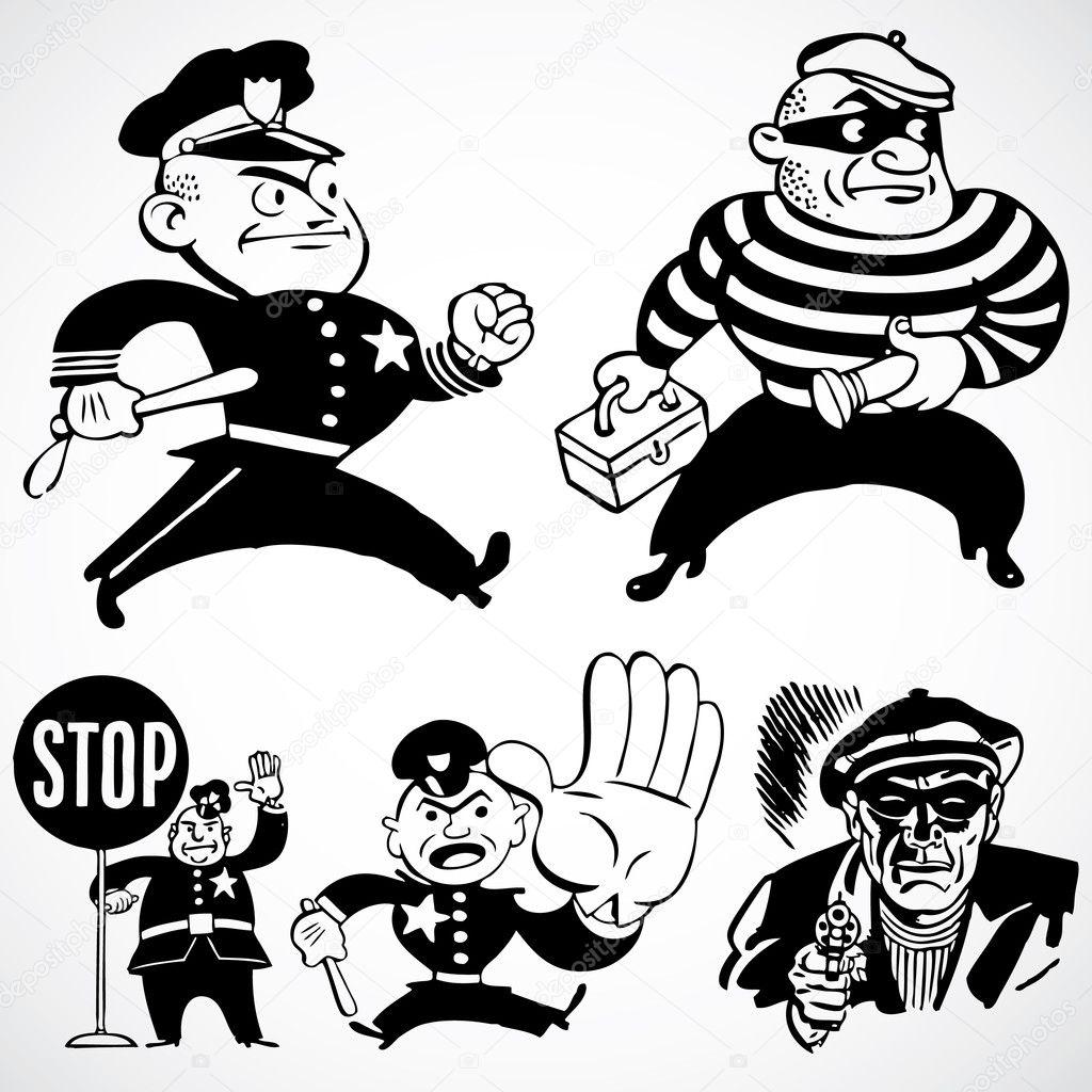 Ladrones y policías vintage — Fotos de Stock © createfirst #3521733