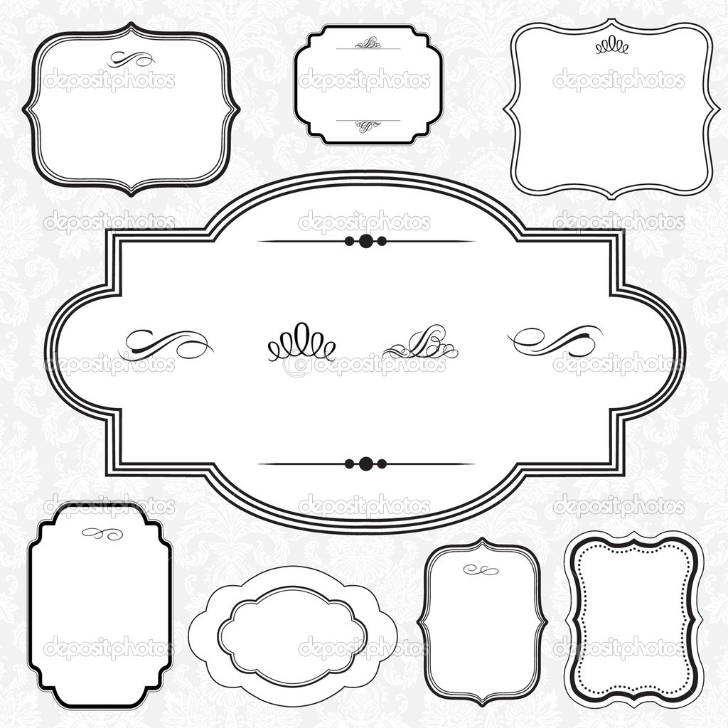 decorative frame set stock image