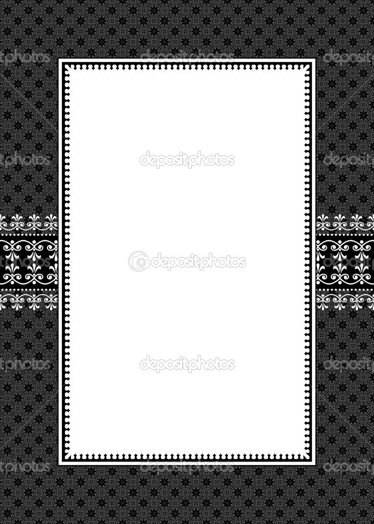 Wide Decorative Frame and Pattern — Stock Photo © createfirst #3527512