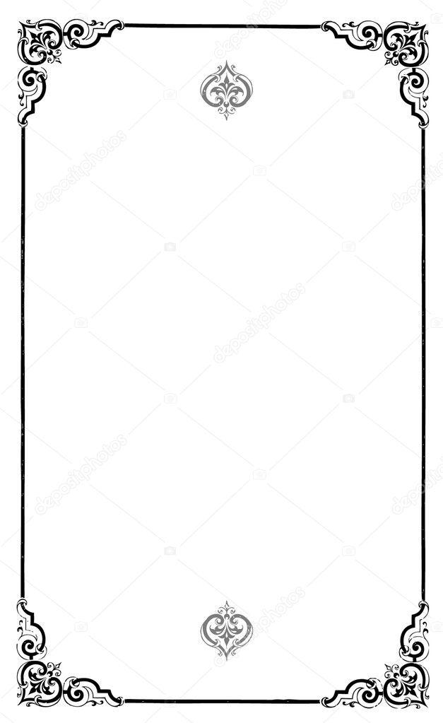 Reich verzierten Rahmen und Grenzen setzen und Muster — Stockfoto ...