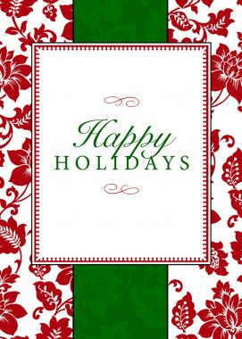 Holiday Themed Frame and Pattern