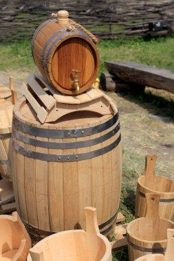 Wooden bareles