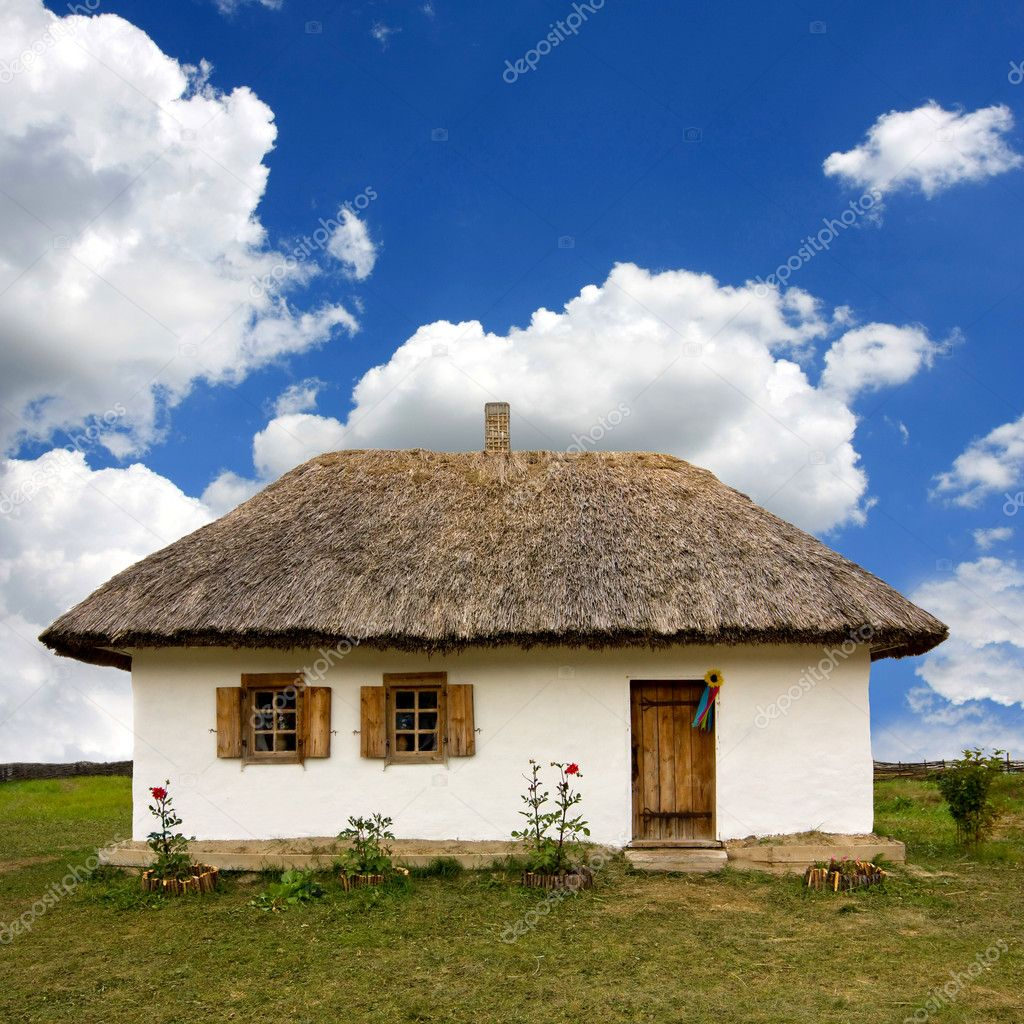 Traditional ukrainian rural house