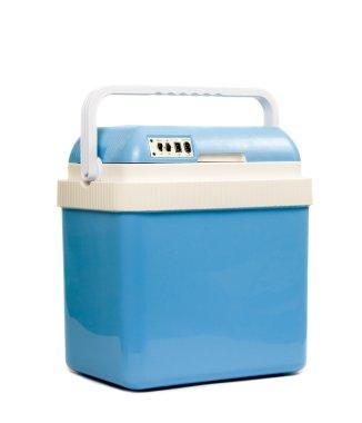 Mobile blue refrigerator