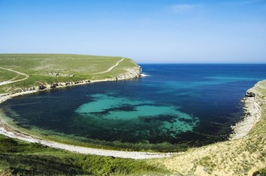 Bay at Bolshoy Kastel gully, Crimea, Ukraine