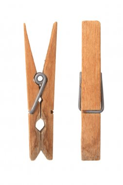 Old wooden clip