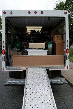 Loaded Moving Truck