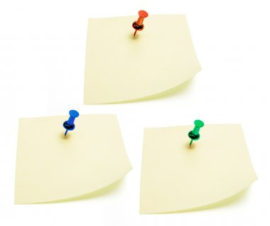 Post It Note Papers with Pushpin