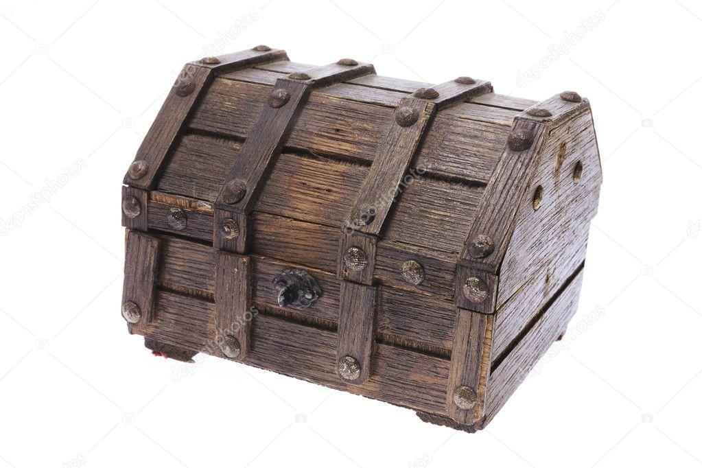 wooden treasure chest u2014 stock photo