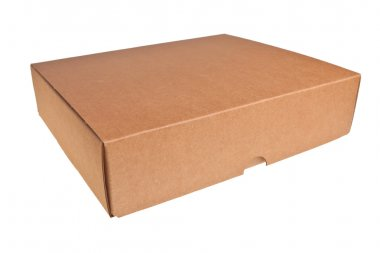 Brown carton box.