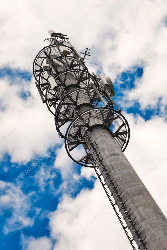 Telecommunication monopole tower  — Stock Photo © bartekjaworski