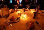 Gála vacsora asztal