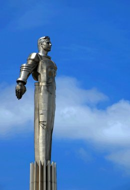 Gagarin monument in Moscow