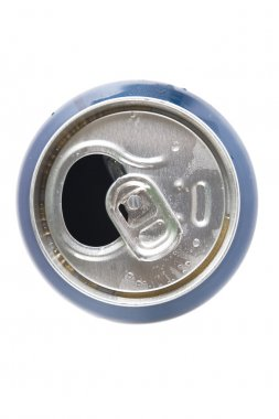 Top view of open aluminum can