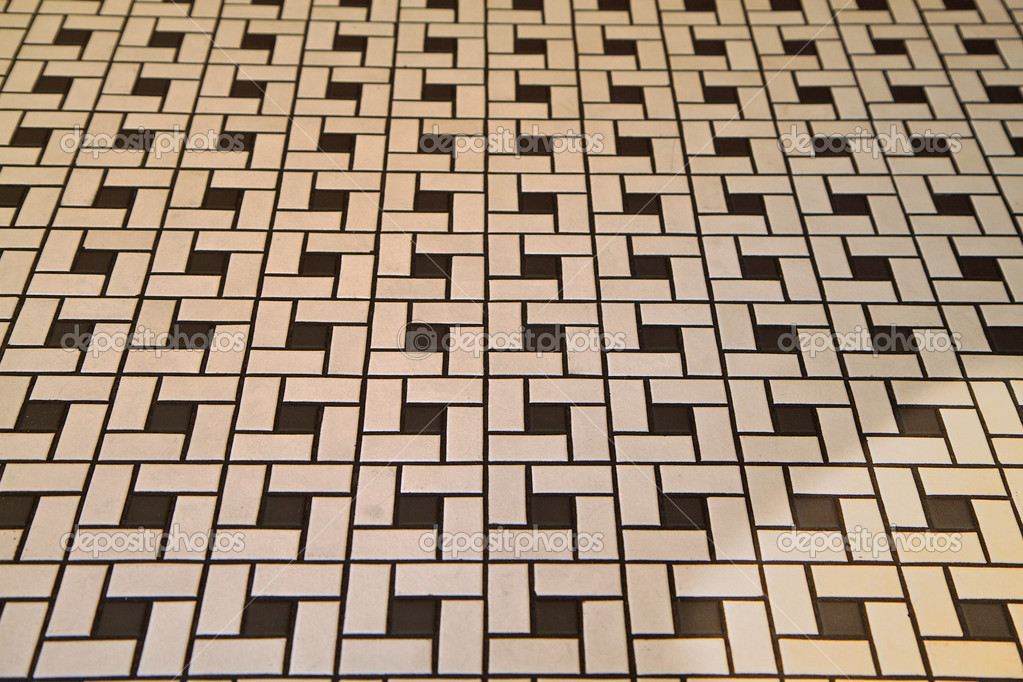 Pavimento di piastrelle di stile déco u foto stock bobkeenan