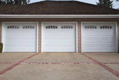 Three car garage close
