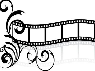 Floral film stripe