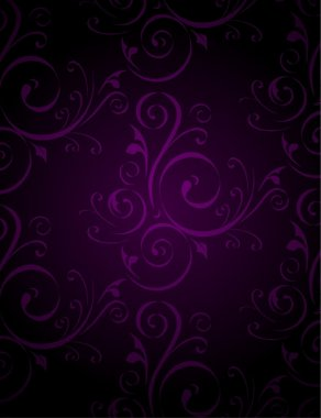 Seamless Damask dark Wallpaper. Vector