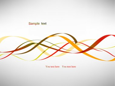 Abstract vector red lines