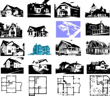 Building house and plan set. Architectures image