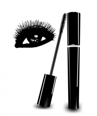 Ink for eyelashes and eye. Vector