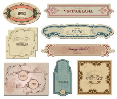 Set vintage labels for your design. Vector