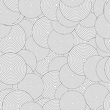 Retro black and white seamless ring