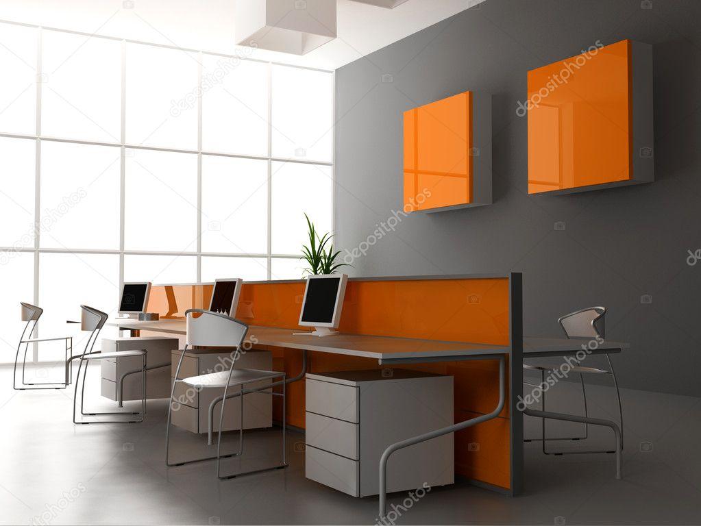 Modern Kantoor Interieur : Het moderne kantoor interieur u stockfoto vicnt