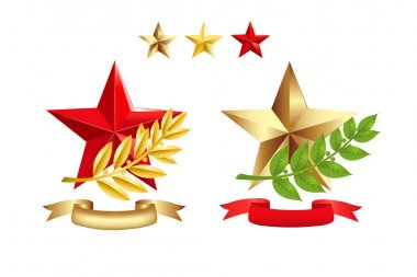 Signs Set (Stars, Laurel Branches)