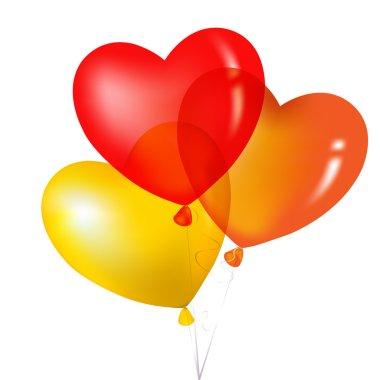 Colorful Heart Shape Balloons