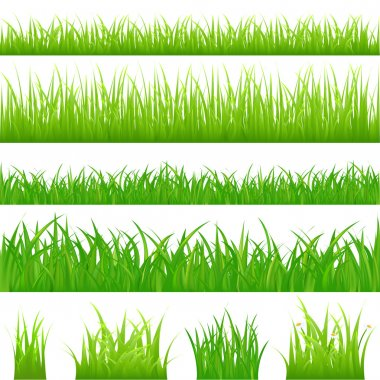 4 backgrounds of green grass
