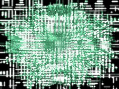 Digital abstract background.Green blocks