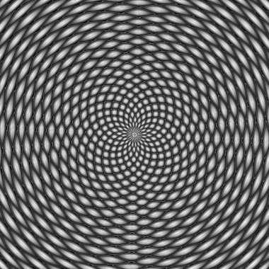 Optical illusion, black and white