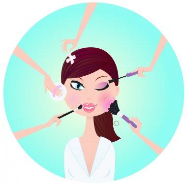 Make - up woman - facial treatment
