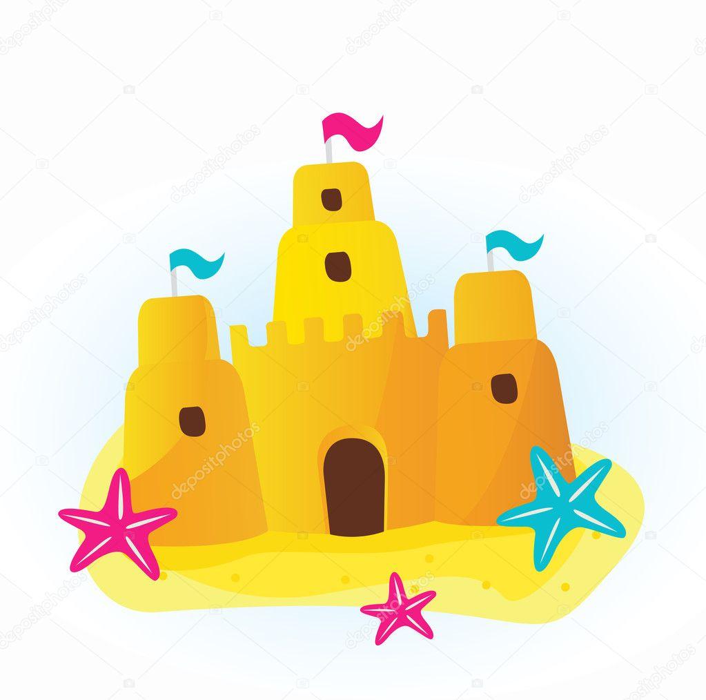 Icone Chateau De Sable De La Plage Image Vectorielle Beeandglow